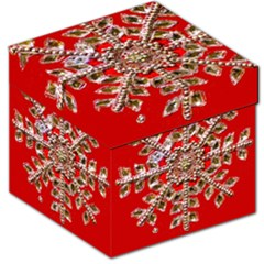Snowflake Jeweled Storage Stool 12