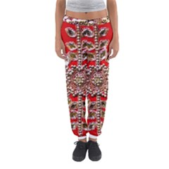 Snowflake Jeweled Women s Jogger Sweatpants