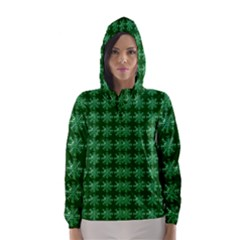 Snowflakes Square Hooded Wind Breaker (women)