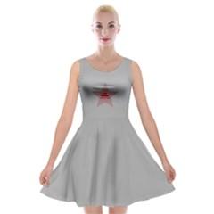 The Real Tanktop Velvet Skater Dress