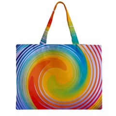 Rainbow Swirl Medium Tote Bag by OneStopGiftShop