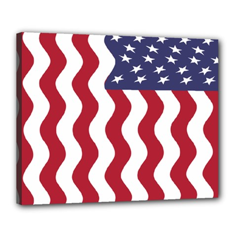 American Flag Canvas 20  X 16  by OneStopGiftShop