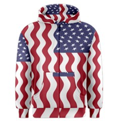 American Flag Men s Zipper Hoodie by OneStopGiftShop