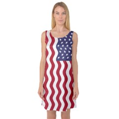 American Flag Sleeveless Satin Nightdress by OneStopGiftShop