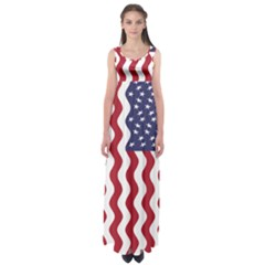 American Flag Empire Waist Maxi Dress by OneStopGiftShop