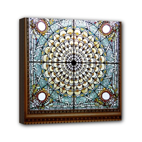Stained Glass Window Library Of Congress Mini Canvas 6  X 6  by Nexatart
