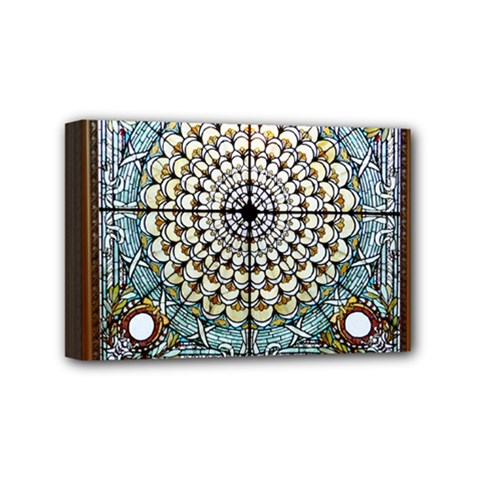Stained Glass Window Library Of Congress Mini Canvas 6  X 4  by Nexatart