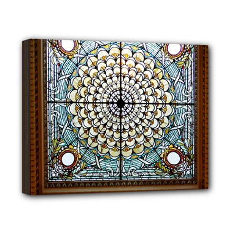 Stained Glass Window Library Of Congress Canvas 10  X 8  by Nexatart