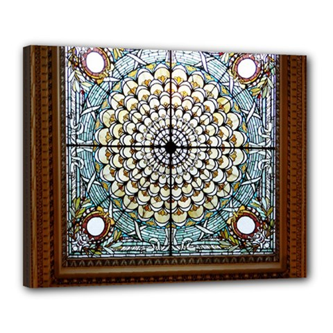 Stained Glass Window Library Of Congress Canvas 20  X 16  by Nexatart