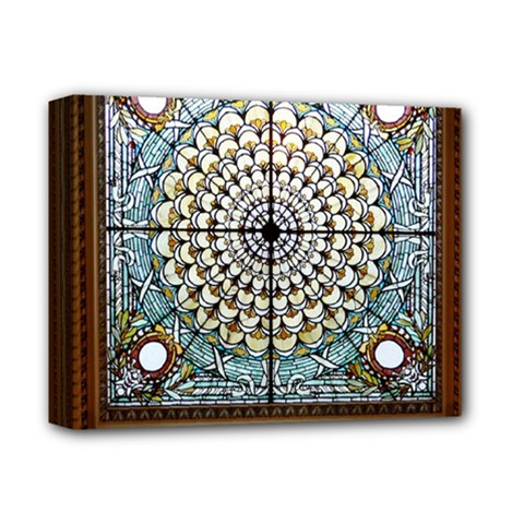 Stained Glass Window Library Of Congress Deluxe Canvas 14  X 11  by Nexatart