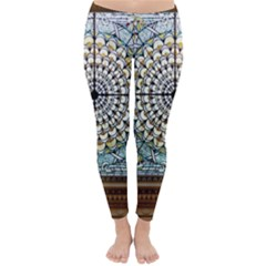 Stained Glass Window Library Of Congress Classic Winter Leggings by Nexatart