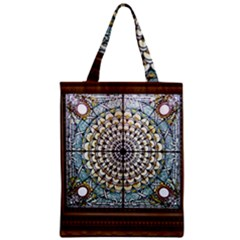 Stained Glass Window Library Of Congress Zipper Classic Tote Bag by Nexatart