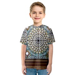 Stained Glass Window Library Of Congress Kids  Sport Mesh Tee by Nexatart