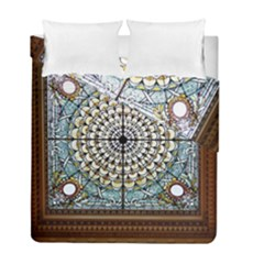 Stained Glass Window Library Of Congress Duvet Cover Double Side (full/ Double Size) by Nexatart