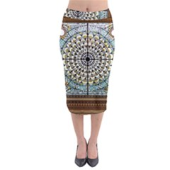 Stained Glass Window Library Of Congress Midi Pencil Skirt by Nexatart