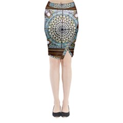 Stained Glass Window Library Of Congress Midi Wrap Pencil Skirt by Nexatart