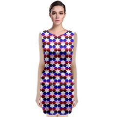 Star Pattern Classic Sleeveless Midi Dress