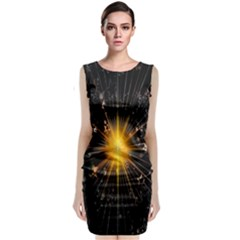 Star Christmas Advent Decoration Classic Sleeveless Midi Dress
