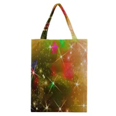 Star Christmas Background Image Red Classic Tote Bag
