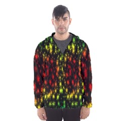 Star Christmas Curtain Abstract Hooded Wind Breaker (men)