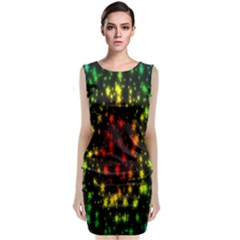 Star Christmas Curtain Abstract Classic Sleeveless Midi Dress
