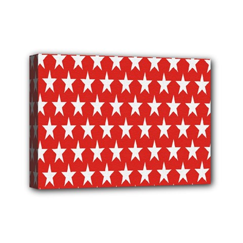 Star Christmas Advent Structure Mini Canvas 7  X 5
