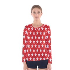 Star Christmas Advent Structure Women s Long Sleeve Tee