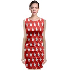 Star Christmas Advent Structure Classic Sleeveless Midi Dress