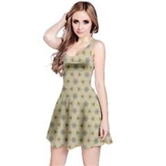 Star Basket Pattern Basket Pattern Reversible Sleeveless Dress by Nexatart