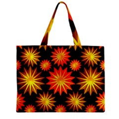 Stars Patterns Christmas Background Seamless Zipper Mini Tote Bag