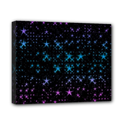 Stars Pattern Canvas 10  X 8  by Nexatart