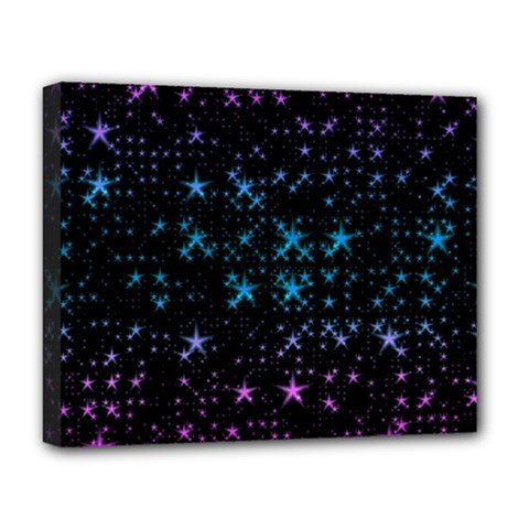 Stars Pattern Deluxe Canvas 20  X 16