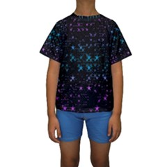 Stars Pattern Kids  Short Sleeve Swimwear by Nexatart