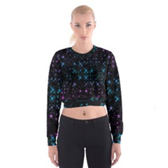 Stars Pattern Women s Cropped Sweatshirt by Nexatart