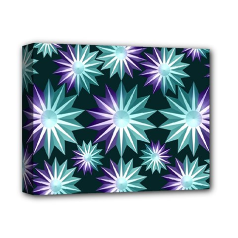 Stars Pattern Christmas Background Seamless Deluxe Canvas 14  X 11