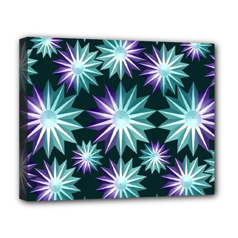 Stars Pattern Christmas Background Seamless Deluxe Canvas 20  X 16