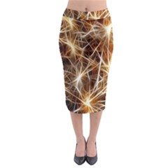 Star Golden Christmas Connection Midi Pencil Skirt