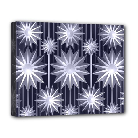 Stars Patterns Christmas Background Seamless Deluxe Canvas 20  X 16