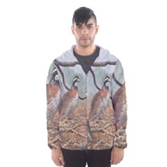 Bob White Quail Hooded Wind Breaker (men) by theunrulyartist