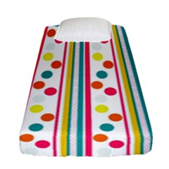 Stripes Polka Dots Pattern Fitted Sheet (single Size) by Nexatart