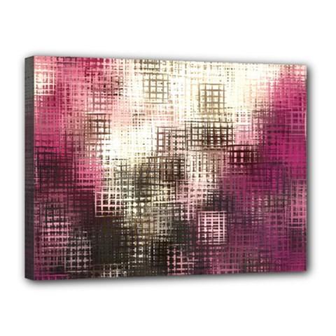 Stylized Rose Pattern Paper, Cream And Black Canvas 16  X 12  by Nexatart