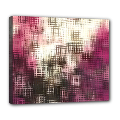 Stylized Rose Pattern Paper, Cream And Black Deluxe Canvas 24  X 20   by Nexatart