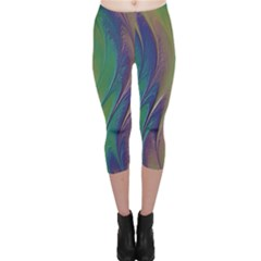 Texture Abstract Background Capri Leggings  by Nexatart