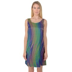 Texture Abstract Background Sleeveless Satin Nightdress by Nexatart