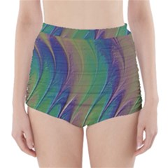 Texture Abstract Background High Waisted Bikini Bottoms by Nexatart
