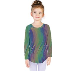 Texture Abstract Background Kids  Long Sleeve Tee by Nexatart