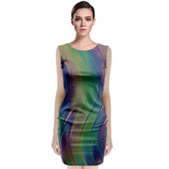 Texture Abstract Background Sleeveless Velvet Midi Dress by Nexatart
