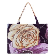 Texture Flower Pattern Fabric Design Medium Tote Bag by Nexatart