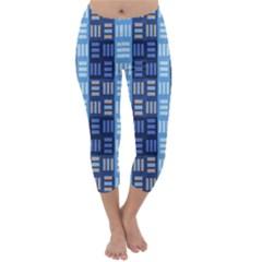 Textile Structure Texture Grid Capri Winter Leggings