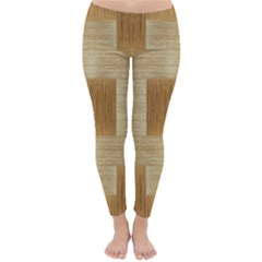 Texture Surface Beige Brown Tan Classic Winter Leggings